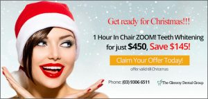 1 Hour In Chair ZOOM! Teeth Whitening for just $450, Save $145 | Dentist Glenroy