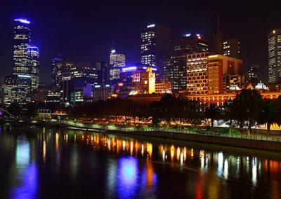 Melbourne City Night Lights