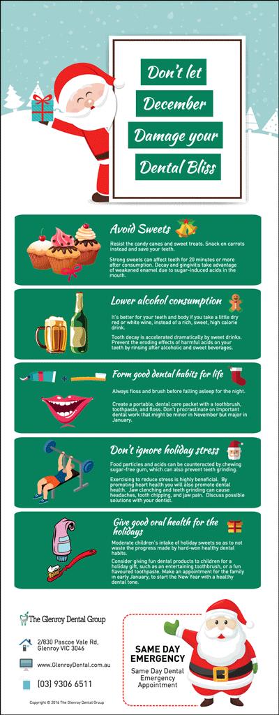 Dentist Glenroy Tips: Don't let December Damage your Dental Bliss